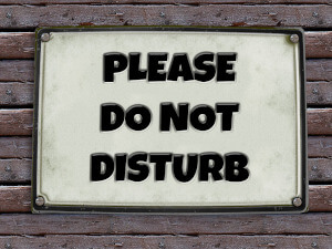 do not disturb sign on irs currently not collectible page